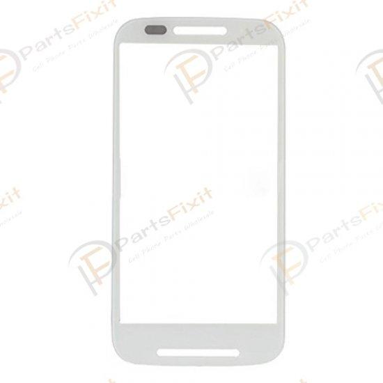 For Motorola Moto E XT1022 Front Glass Lens White