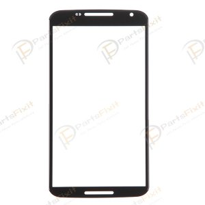 For Motorola Nexus 6 Front Glass Lens Black