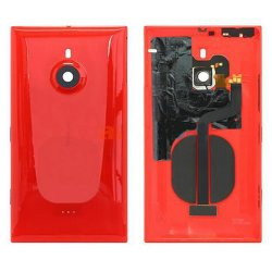 Battery Cover With Wireless Charging Coil for Nokia Lumia 1520 Red