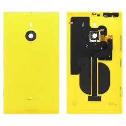 Battery Cover With Wireless Charging Coil for Nokia Lumia 1520 Yellow