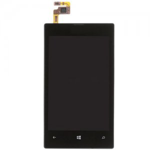 LCD Screen with Frame for Nokia Lumia 520 Black