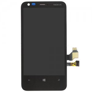 LCD Screen  with Frame for Nokia Lumia 620 Black