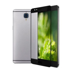 3D Full Screen Coverage Tempered Glass Sreen Protector for OnePlus 3 Black