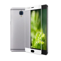 3D Full Screen Coverage Tempered Glass Sreen Protector for OnePlus 3 White