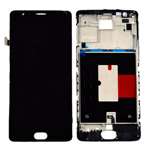 LCD Screen With Frame for OnePlus 3 Black