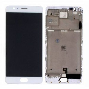 LCD Screen With Frame for OnePlus 3 White