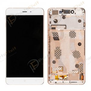 For OnePlus X LCD with Frame Assembly White