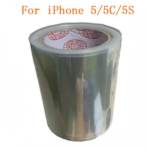 500pcs Front Screen Anti-Static Protector Refurbishment Film for iPhone 5/5c/5s