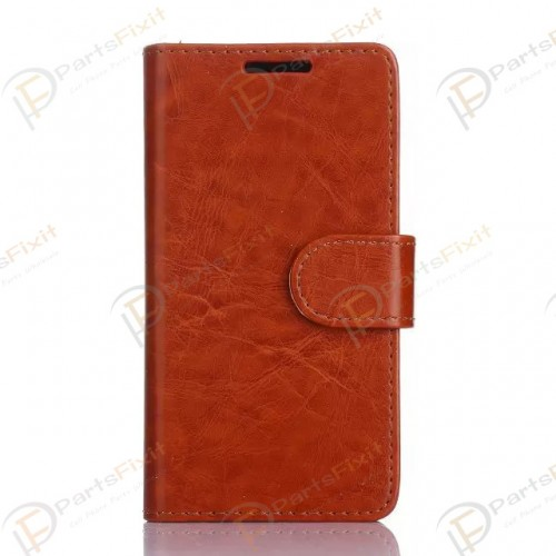 Crazy Horse PU Wallet Leather Cover Case with Cred...