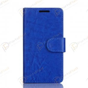 Crazy Horse PU Wallet Leather Cover Case with Credit Card Slot Design Royalblue for Samsung Galaxy A3