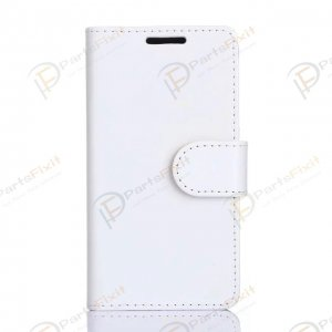 Crazy Horse PU Wallet Leather Cover Case with Credit Card Slot Design White for Samsung Galaxy A3