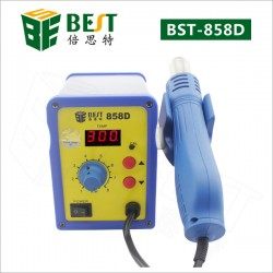 BST-858D single LED displayer leadfree hot air gun with helical wind-desolder station-hot air equipment