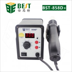 BST-858D+ single LED displayer leadfree hot air gun with helical wind-desolder station-hot air equipment