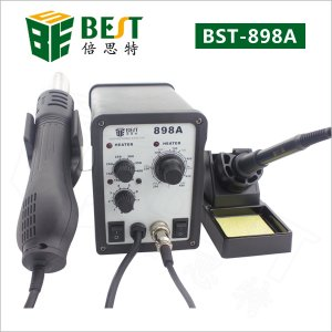 BST-898A 2 in 1 intelligent leadfree hot air gun with helical wind+ solder station- desolder station + solder iron