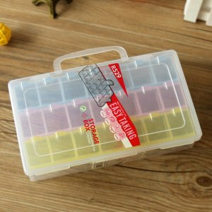 BST-R529 21 lattices Transparent plastic storage box