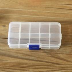 10 Lattices Transparent plastic storage box