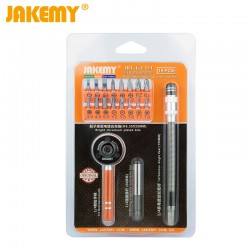 Ratchet Tool Set Multi Screwdriver Bits with Magnetic / Soft Extension Bar Precision Repair Tools Kit Household JAKEMY JM-6119
