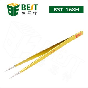Anti-static stainless steel tweezers #BST-168H