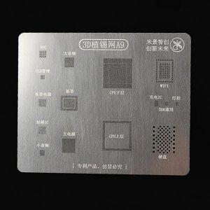 A9 BGA Reballing Stencil 3D Planting Stencil Net Fixture IC For A9