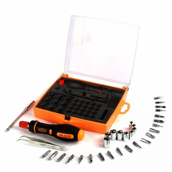 JAKEMY JM-6118 33 in 1 Multi-function Precision Screwdriver Set Hand Tools Repair Tool Kit  Set For Cell Phone Laptop Tablet PC