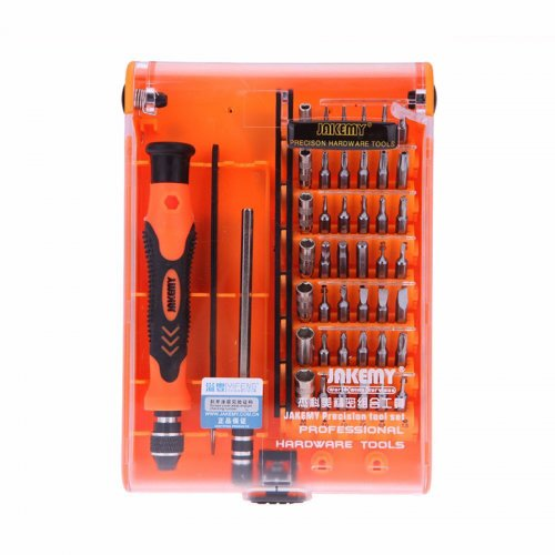 JAKEMY JM-8128 45 in 1 Screwdriver Set Adjustable Handle Magnetic iPhone Laptop Computer Household Precision Portable Screwdriver Repairing Kit