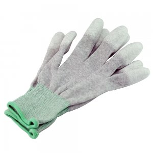 Antistatic Carbon Fiber Gloves /PU Coated Gloves for Repair