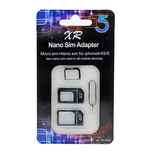 Nano SIM Adapter Black XR