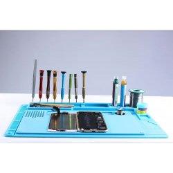 WL Multi-function Silica gel Mat Heat Insulated Pad maintenance platform Full Set Blue