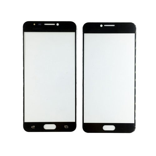 Front Glass Lens for Samsung Galaxy C7 Black
