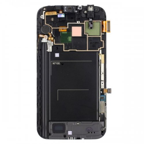 LCD Screen Digitizer Assembly with Frame for Samsung Galaxy Note 2 N7100 -Black