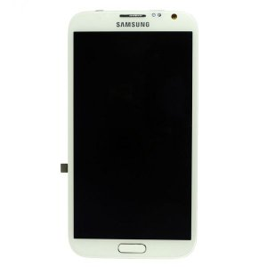 LCD Screen Digitizer Assembly with Frame for Samsung Galaxy Note 2 N7100 -White