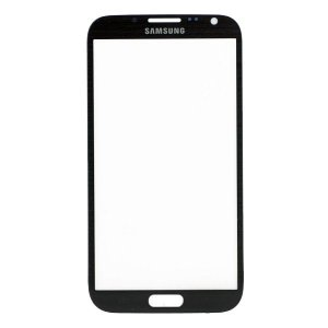 For Samsung Galaxy Note 2 N7100 Front Glass Lens Black