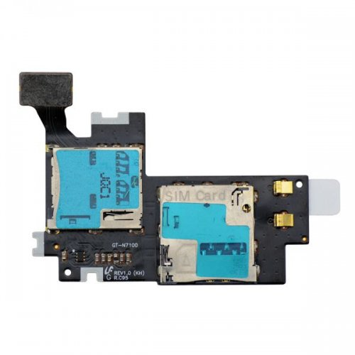 Original SIM SD Card Reader Slot for Samsung Galax...