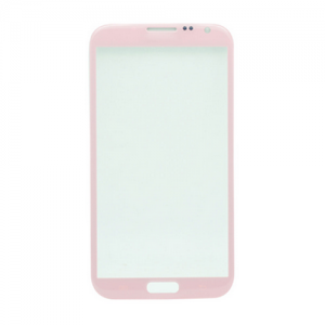 For Samsung Galaxy Note 2 N7100 Front Glass Lens Pink