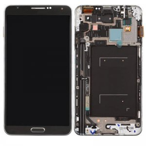 LCD with Frame for Samsung Galaxy Note 3 White Original LCD + Copy Glass