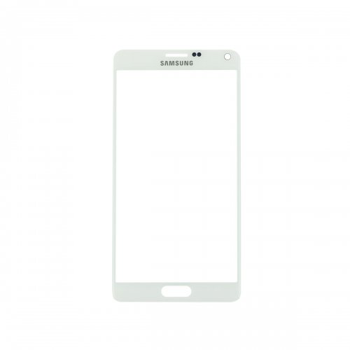 For Samsung Galaxy Note 4 Front Glass Lens White