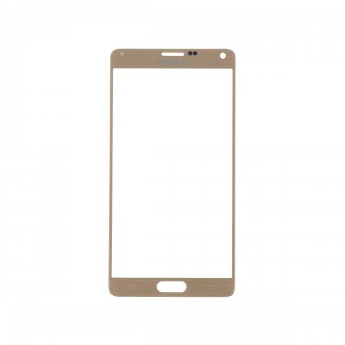 For Samsung Galaxy Note 4 Front Glass Lens Gold