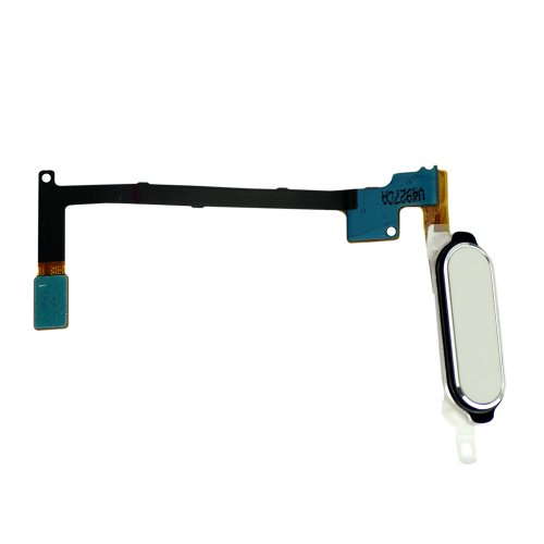 For Samsung Galaxy Note 4 Home Button with Flex Cable Ribbon White