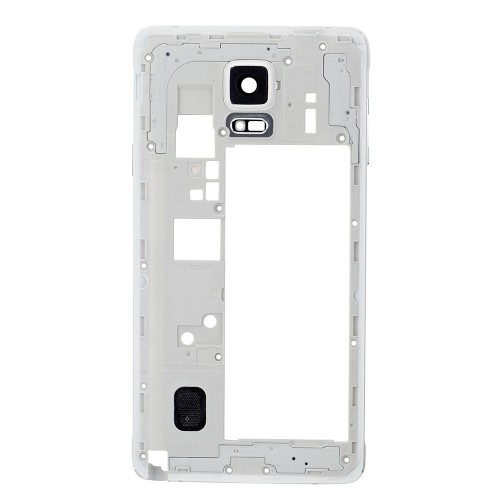 Rear Housing Frame with Small Parts for Samsung Galaxy Note 4/N910F White
