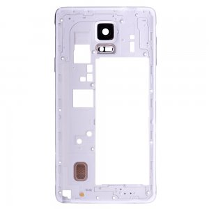 Rear Housing Frame with Small Parts for Samsung Galaxy Note 4/N910V White