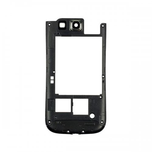 Middle Cover Bezel Rear Housing For Samsung Galaxy S3 i9300 Black