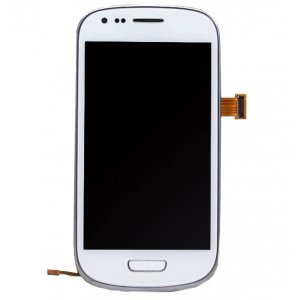 White LCD touch screen digitizer Assembly With Frame For Samsung Galaxy S3 Mini i8190