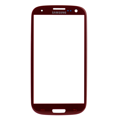 For Samsung Galaxy S3 i9300 Front Glass Lens Red