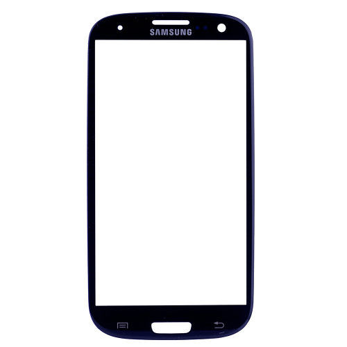 For Samsung Galaxy S3 i9300 Front Glass Lens Blue