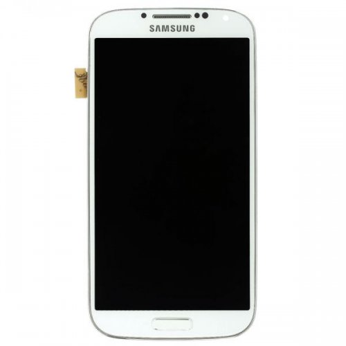 LCD Screen Digitizer Assembly with Front Frame for Samsung Galaxy S4 i9500 White