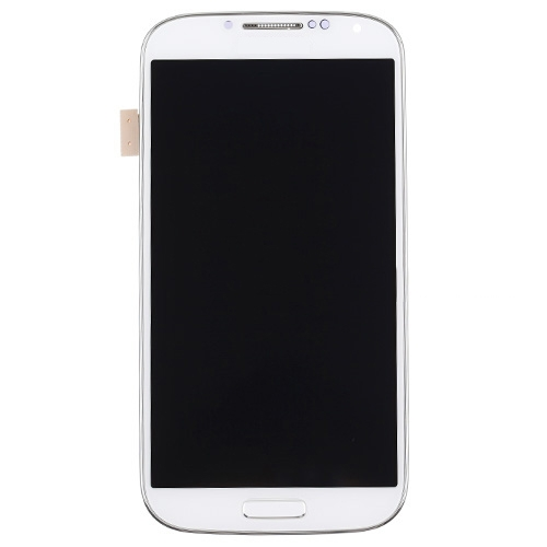 Original LCD Screen Digitizer with Frame for Samsung Galaxy S4 i9505 White High Copy Glass