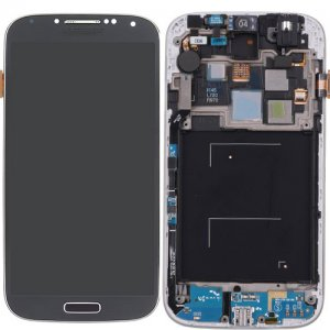 Original LCD (High Copy Glass) Screen Digitizer Assembly With Frame For Samsung Galaxy S4 i545 L720 R970 Black