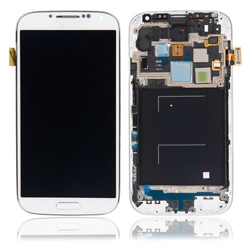 Original LCD (High Copy Glass) Assembly With Frame For Samsung Galaxy S4 i545 L720 R970 White