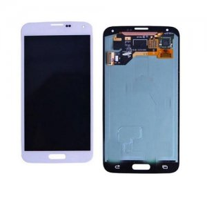Original Refurbished White LCD Screen Digitizer Assembly for Samsung Galaxy S5 G900  All Versions