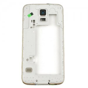 Middle Frame for Samsuang Galaxy S5 G900 Gold with Black Ear Speaker Mesh